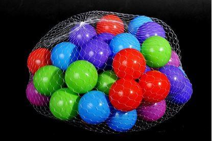 Obrázek Plastové míčky 100 ks (7 cm)