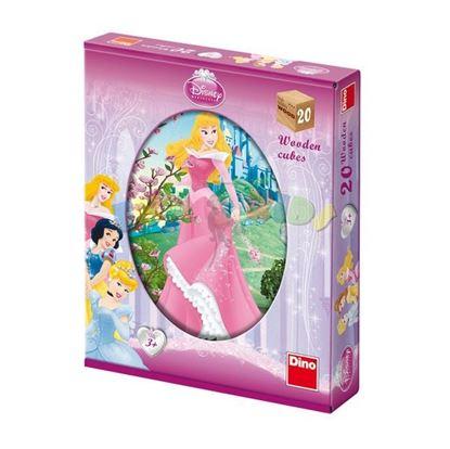 Obrázek Dřevěné kostky Princezny - 20 kostek