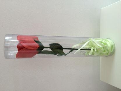 Obrázek Dekorační mýdlo ve tvaru červené růže se stonkem