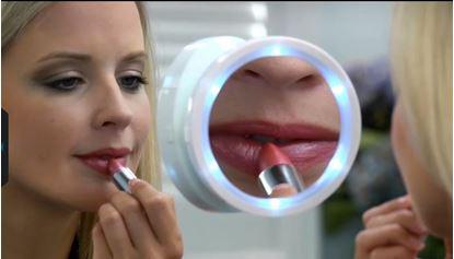 Obrázek Kosmetické zvětšovací zrcátko s osvětlením