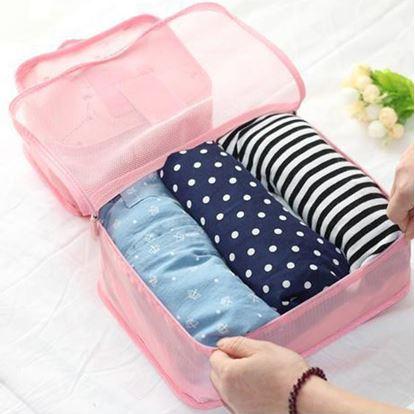 Obrázek Sada cestovních organizérů do kufru - světle růžová