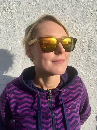 Obrázek Dřevěné sluneční brýle - duhové