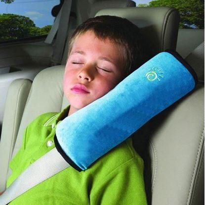 Obrázek Cestovní polštář do auta na pás - modrý