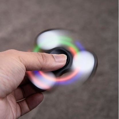 Obrázek Fidget spinner svítící - černý
